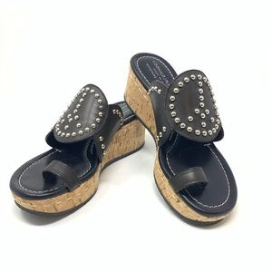 Donald J. Pliner | Leather Peace Sign Stud Sandals